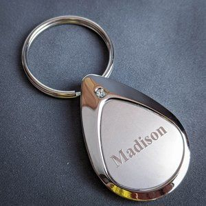 Madison Keychain Keyring Personalized Name
